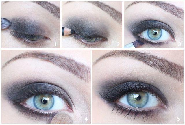 Макияж для голубых глаз с эффектом смоки айс
