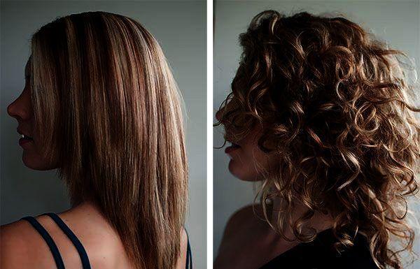 Химия на редкие волосы фото до и после