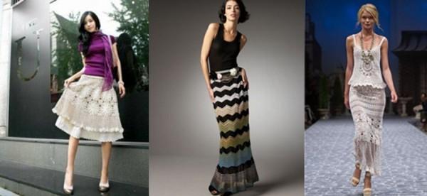 вязаные юбки для женщин