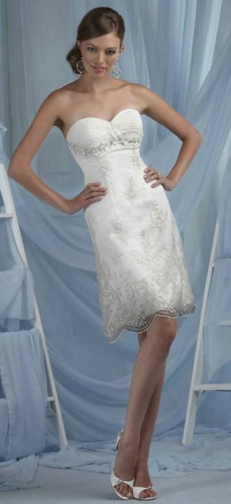 прямые короткие свадебные платья