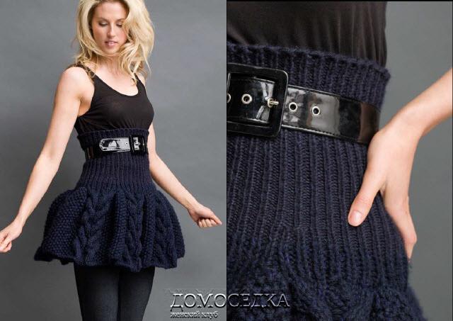 Вязанные юбки для девочек