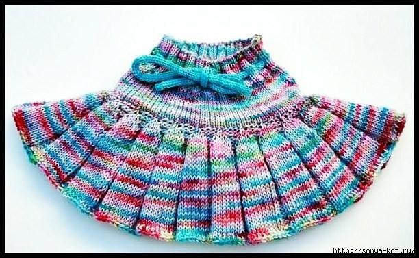модные вязаные юбки для девочек