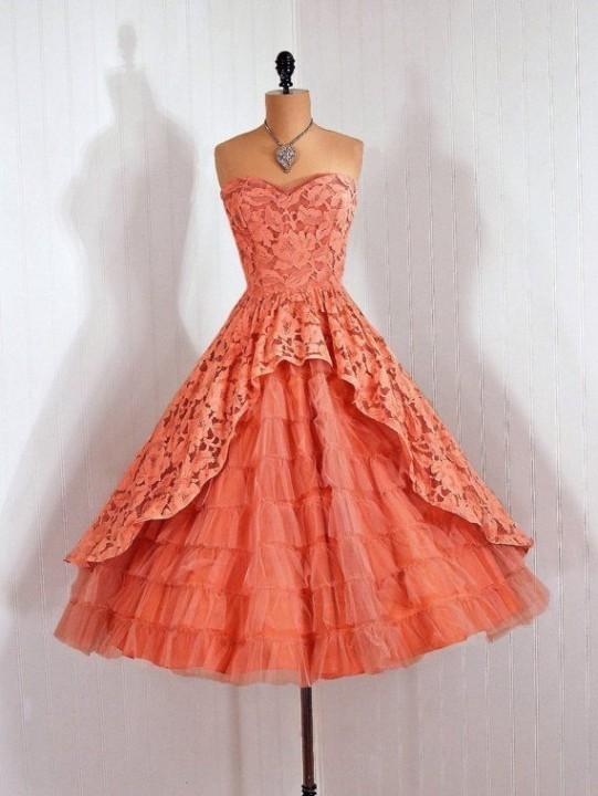 винтажные платья 50х