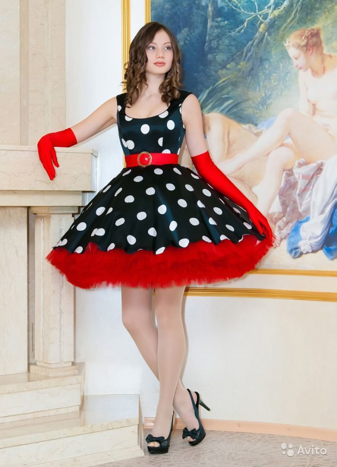 Платье в стиле 60-х пышные