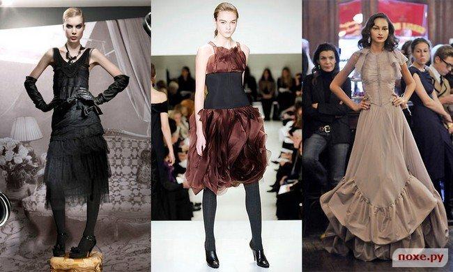 вечерние и выпускные платья в стиле ретро