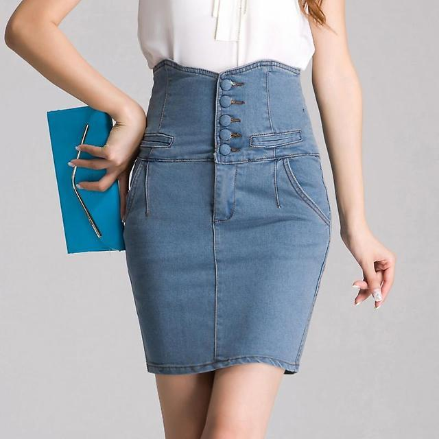джинсовая юбка карандаш