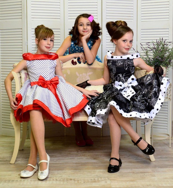 платье в стиле стиляги для девочек