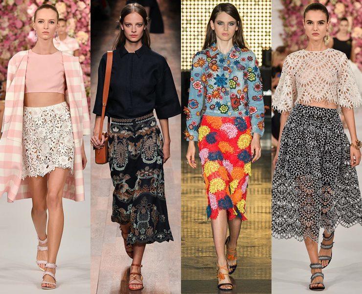 красивые модели летних юбок