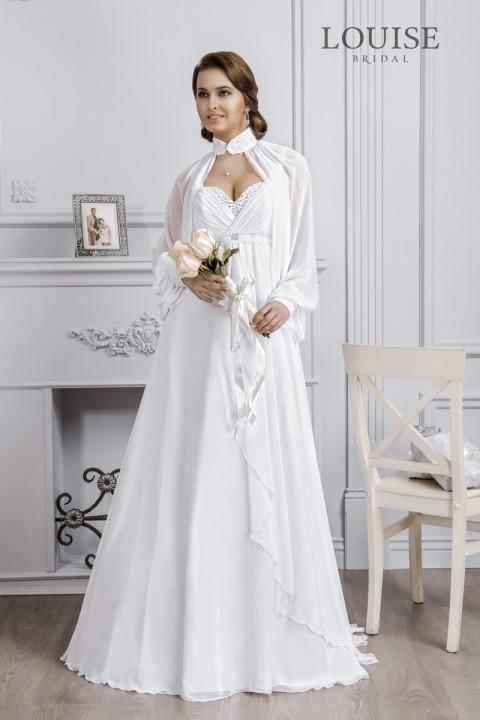 свадебное платье с длинными рукавами в стиле ампир