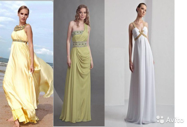 вечерние платья в греческом стиле на выпускной