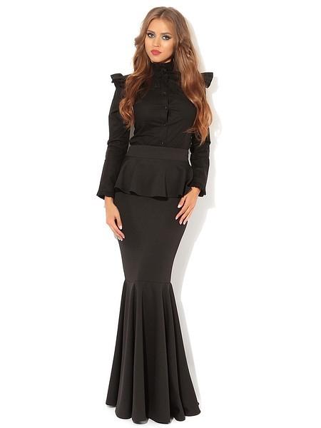 длинная юбка с баской