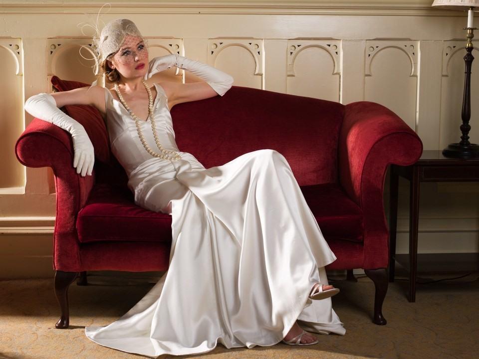 платья в пол в стиле 30-х
