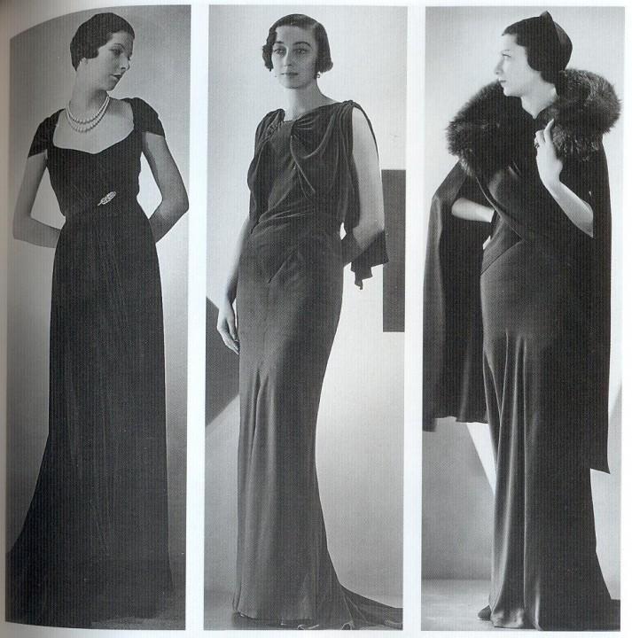 Длинные платья в стиле 30-х