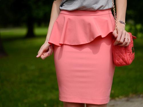 юбка с баской