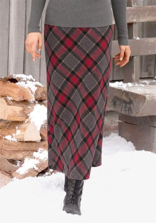 фото шерстяных длинных юбок