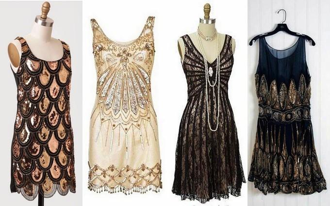вечерние платья в стиле гэтсби