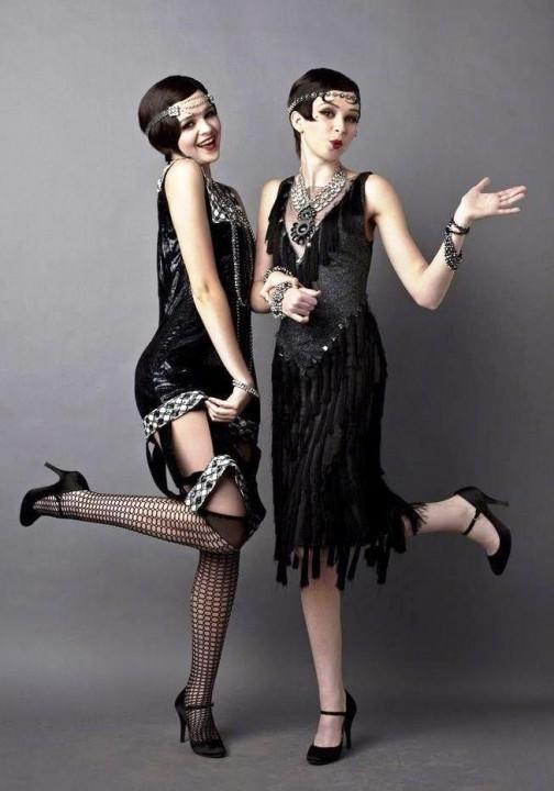 платье в стиле чикаго с бахромой