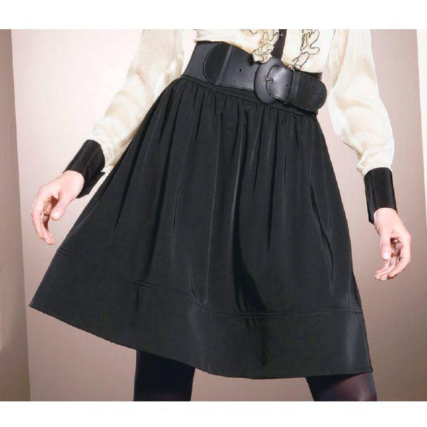 широкая юбка с широким поясом
