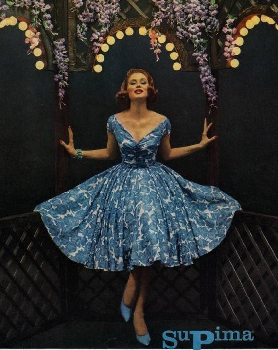 стиль винтаж платья 50-х