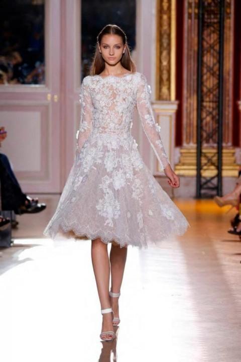 пышные свадебные платья с длинными рукавами