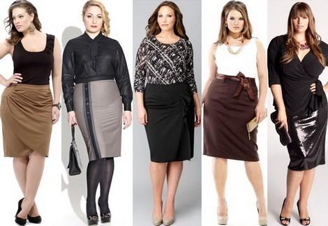 прямые юбки для полных женщин