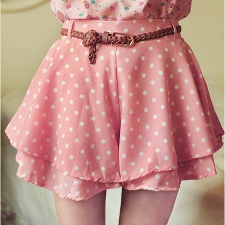 шифоновая летняя юбка шорты