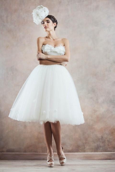 свадебное платье в стиле ретро 60-х
