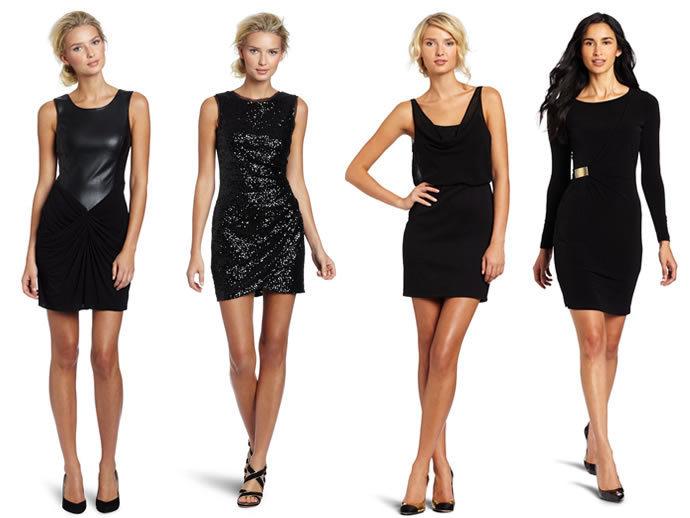 модное черное платье в стиле шанель