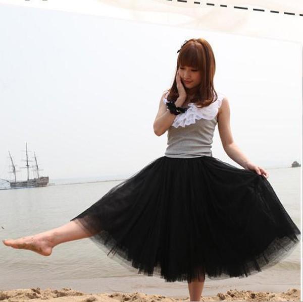 Новый-2015-женщины-стильные-5-слоев-туту-принцесса-длинная-юбка-нижняя-юбка-до-колен-милая-девушка