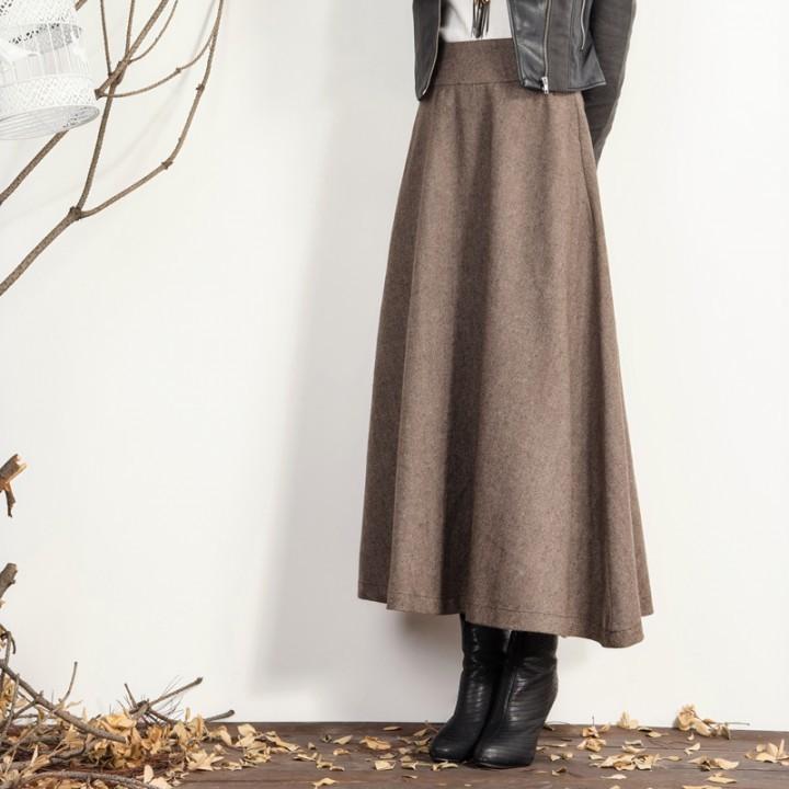 Теплая юбка на осень своими руками 6