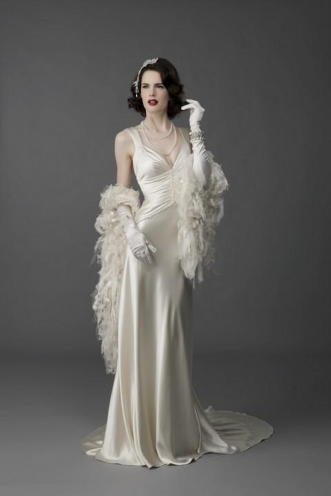 свадебное платье в стиле 20-х