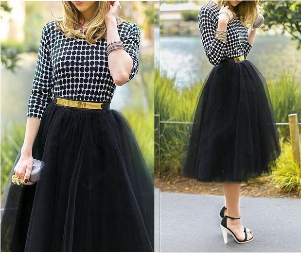 длинная юбка из сетки
