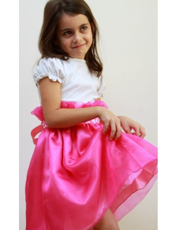 юбка из органзы для девочек