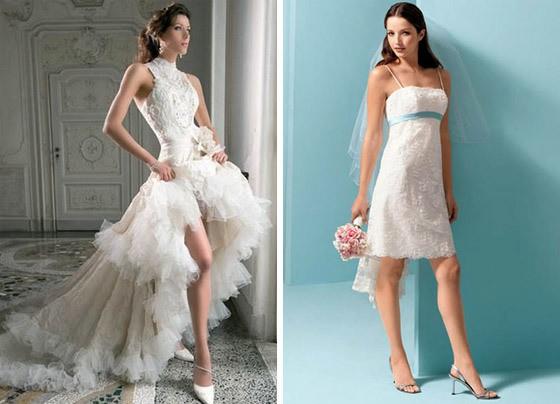 кружевные платья с короткой юбкой спереди
