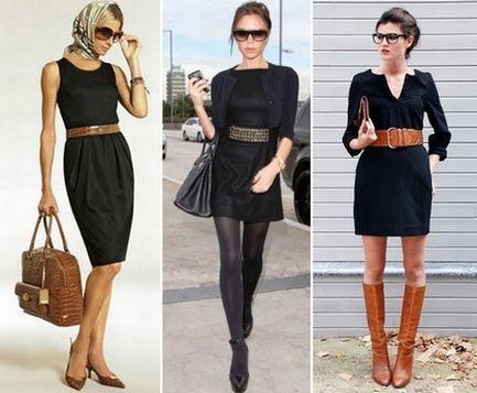 С чем одевать маленькое черное платье
