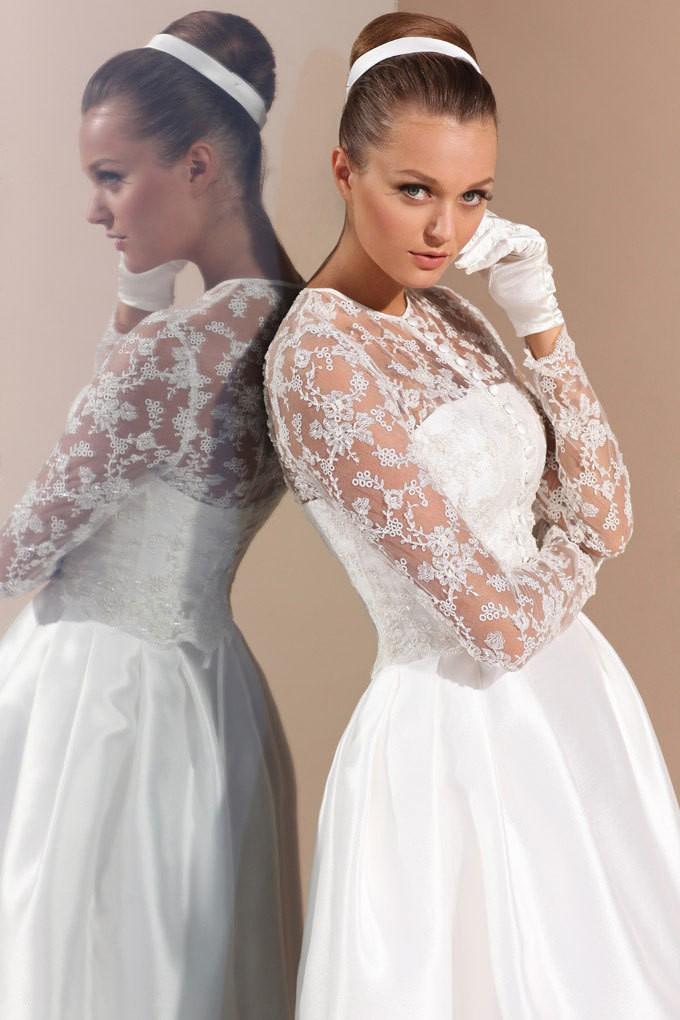 Фото свадебное платье в стиле 60-х