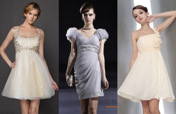 платья в стиле ампир короткие