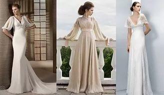 платья в стиле ампир с длинными рукавами