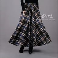 шерстяная юбка макси