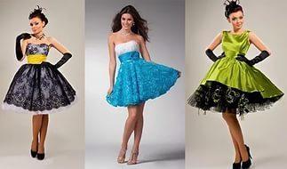 платье в стиле стиляги с пышным подъюбником