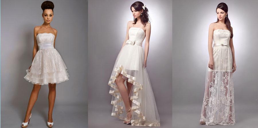 f2926fc3d98 Короткие свадебные платья  пышные со шлейфом