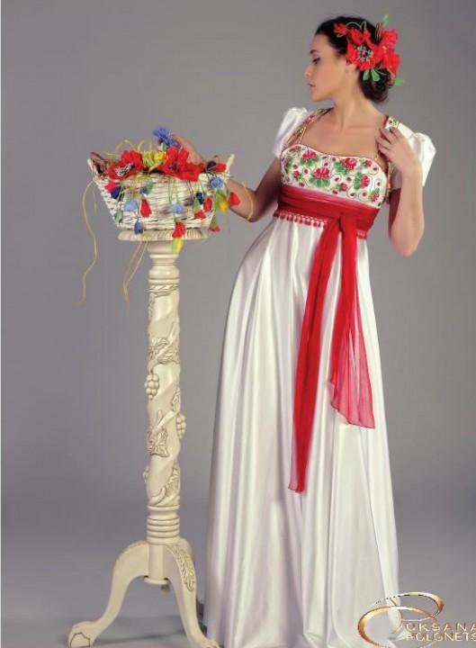 вечернее платье в русском народном стиле