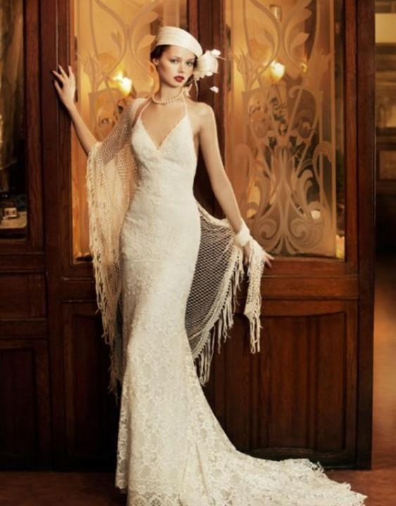 свадебное платье в стиле 30-х