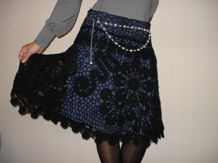 Вязаные юбки спицами и крючком для женщин и девочек. Фото ...
