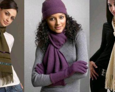 как завязывать шарф на шее