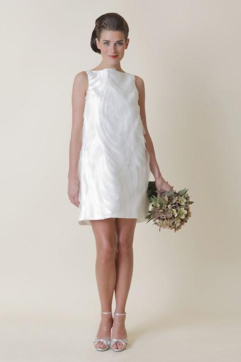 короткое свадебное платье прямое