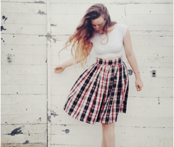 с чем носить широкую юбку на резинке