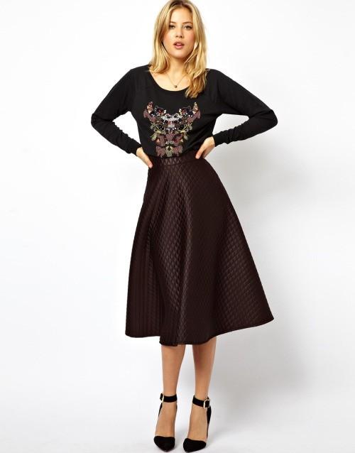 широкая длинная юбка