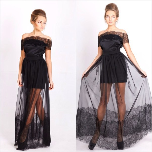 Платье сверху юбка из фатина