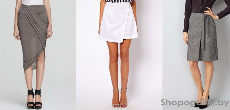 Модели и выкройки юбки с запахом
